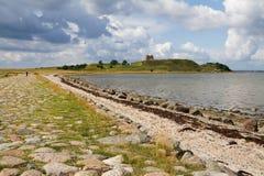 Castillo Dinamarca del paisaje de la ruina Foto de archivo libre de regalías