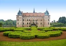 Castillo Dinamarca escénica de Egeskov fotos de archivo libres de regalías
