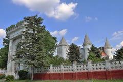 Castillo Dundjerski, construido en 1919, cerca de la ciudad de Becej fotos de archivo libres de regalías