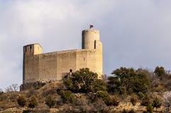 Castillo e iglesia colegial de la MUR Imagenes de archivo