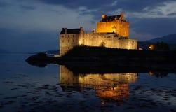 Castillo Eilean Donan en Escocia Foto de archivo libre de regalías
