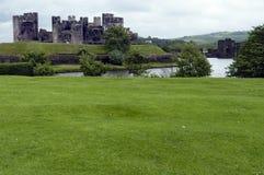 Castillo el Sur de Gales de Caerphilly Fotos de archivo libres de regalías