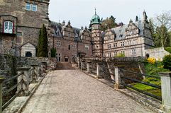 Castillo Emmerthal de la entrada principal Imagenes de archivo