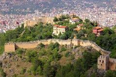Castillo en Alanya, Turquía Foto de archivo libre de regalías