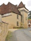 Castillo en aldea francesa Imagen de archivo