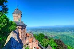 Castillo en Alsacia, Francia Imagenes de archivo