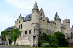 Castillo en Antwerpen foto de archivo