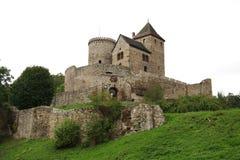 Castillo en BÄdzin Foto de archivo libre de regalías