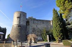 Castillo en Bérgamo imagen de archivo