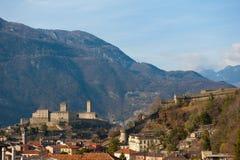 Castillo en Bellinzona, Suiza Fotografía de archivo libre de regalías