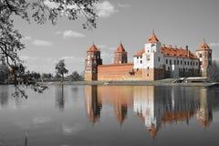 Castillo en Bielorrusia Fotos de archivo
