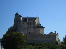Castillo en bobolice Imagenes de archivo