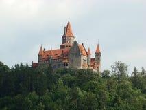 Castillo en Bouzov Foto de archivo libre de regalías