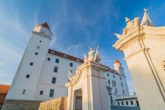 Castillo en Bratislava, la capital de Hrad de Eslovaquia Imágenes de archivo libres de regalías