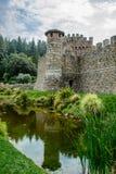 Castillo en California Napa Valley Fotografía de archivo libre de regalías