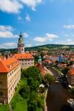 Castillo en Cesky Krumlov (República Checa) Imágenes de archivo libres de regalías