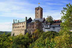 Castillo en Eisenach, Alemania de Wartburg Imagen de archivo libre de regalías