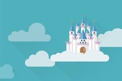 Castillo en el cielo Imagen de archivo libre de regalías