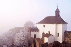 Castillo en el invierno - hora de Kuneticka Imagen de archivo libre de regalías