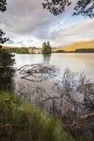 Castillo en el lago un Eilein en Escocia Imagenes de archivo