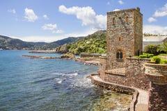 Castillo en el Mandelieu-la Napoule foto de archivo libre de regalías