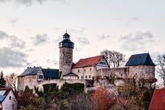 Castillo en el pueblo bávaro Sanspareil Foto de archivo