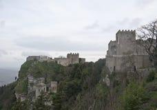 Castillo en Erice, Sicilia de Venus fotografía de archivo libre de regalías