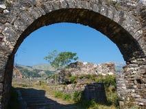 Castillo en Gjirokastra, Albania Imagen de archivo libre de regalías