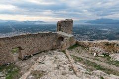 Castillo en Grecia imagen de archivo