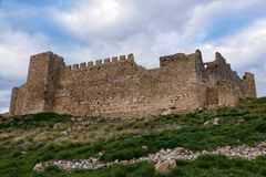 Castillo en Grecia fotos de archivo