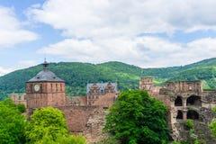 Castillo en Heidelberg Baden-Wurttemberg, Alemania imagen de archivo libre de regalías