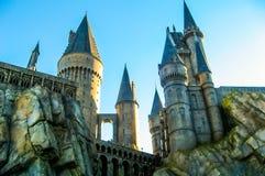 Castillo en Hogwarts, estudios universales Imagen de archivo libre de regalías