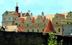 Castillo en Horsovsky Tyn, República Checa fotografía de archivo