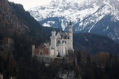 Castillo en invierno, Baviera, Alemania de Neuschwanstein imágenes de archivo libres de regalías