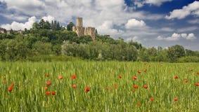 Castillo en Italia fotografía de archivo