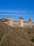 Castillo en Kamenets-Podolsky en Ucrania Imagen de archivo libre de regalías