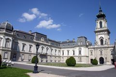 Castillo en Keszthely, Hungría de Festetics imagen de archivo