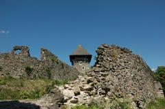 Castillo en la aldea Nevicke Imágenes de archivo libres de regalías