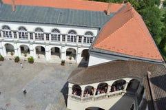 Castillo en la ciudad de Sarospatak, Hungría imágenes de archivo libres de regalías