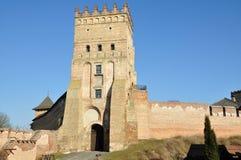 Castillo en la ciudad Lutsk imagen de archivo