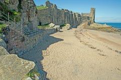 Castillo en la costa Foto de archivo
