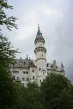 Castillo en la niebla Fotos de archivo libres de regalías