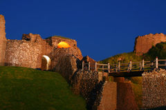 Castillo en la noche Imagen de archivo
