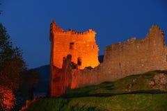 Castillo en la noche Foto de archivo