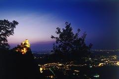 Castillo en la oscuridad Foto de archivo libre de regalías