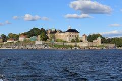 Castillo en la playa en Oslo Foto de archivo