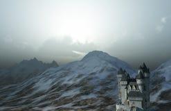 Castillo en las montañas Imagenes de archivo
