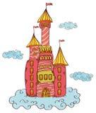 Castillo en las nubes Fotos de archivo