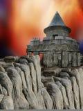 Castillo en las rocas libre illustration