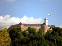 Castillo en Ljubljana Imagen de archivo libre de regalías